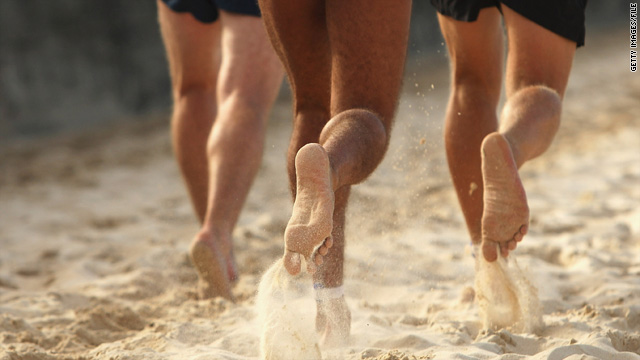 A new study shows that barefoot running causes less impact to the body than wearing shoes.