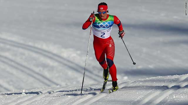 Norwegian cross-country skier Marit Bjørgen won the bronze medal, even though she uses asthma medication.