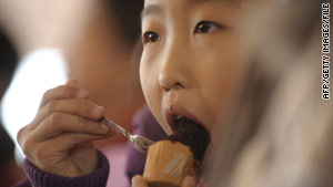 Children 4 and younger are at the highest risk for choking on food, the American Academy of Pediatrics says.