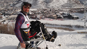 Jasmin Bambur, injured in 2000, skis competitively. He is participating in the 2010 Paralympic Games.
