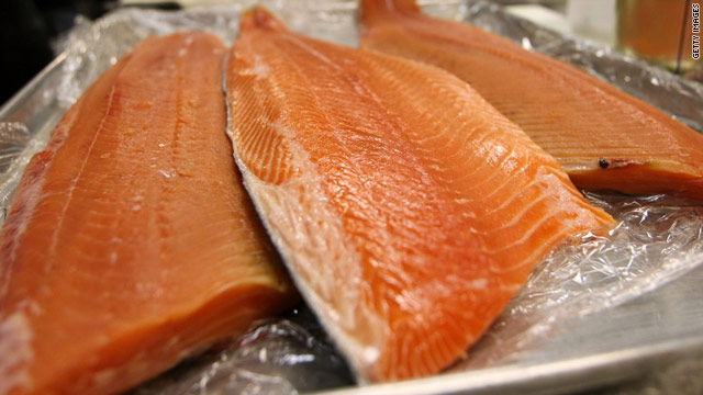 Fish like salmon are rich in polyunsaturated fats, which should replace saturated fats in our diets, two doctors said.
