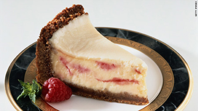 Cheesecake and other fatty foods overload the pleasure centers in the brain.