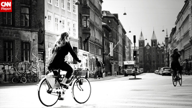 Copenhagen, Denmark, makes it easy for people to get around by bike, says Jessica Eisenbraun.