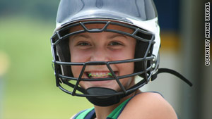 Mackenzie Riley, 13, played through pain until she got medical help. Now she has special shoes to prevent future injury.