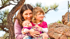 Julie Dye of Boulder, Colorado, breastfed both of her daughters.