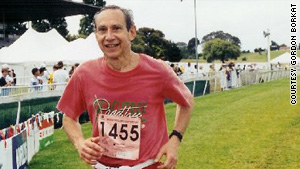 Dr. Gordon Borkat, 70, qualified for the Boston Marathon this year but was unable to get a slot for the race.