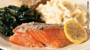 Wild salmon is a rich source of niacin, which helps reduce the risk of cataracts. See recipe below.