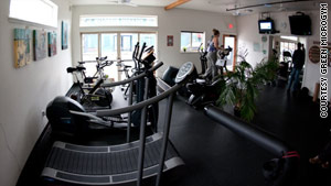The Green Microgym in Portland uses human-powered exercise machines to save power.