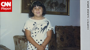 Claudia Garza said she had to wear adult Girl Scout's uniform as a child, because of her weight.