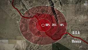 Concentric rings showed lead poisoning distribution around an El Paso lead smelter.