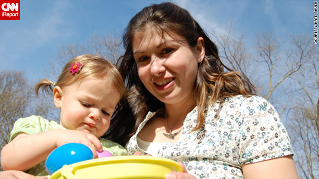 Kelly Bauer had postpartum depression when her daughter Wren was born, but has since recovered.