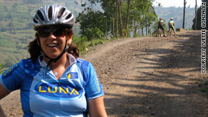 Marika Holmgren rode her mountain bike during chemotherapy.