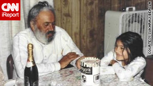 Sukhraj Beasla, right, and her grandfather, seen here in 1989, used to read together.