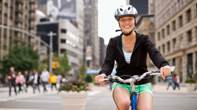 Biking for five minutes a day can help women minimize weight gain as they enter middle age, a new study suggests.