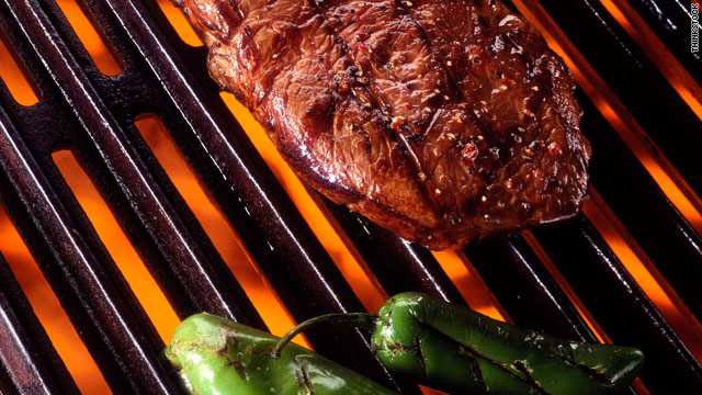 Charring meat on the grill can produce some potentially harmful substances.