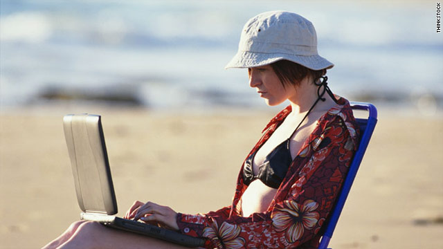 Many people these days can't go on vacation without worrying about what might be in their inboxes.
