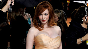 "Christina Hendricks says she shares a ""no excuses"" mentality with her ""Mad Men"" character Joan Holloway."