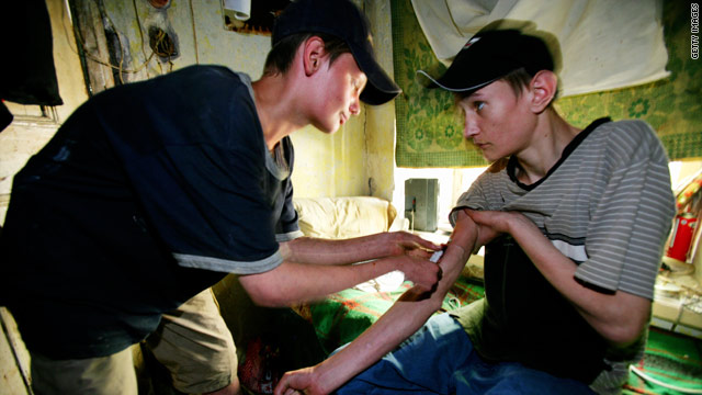 Street kids, pictured in Odessa, Ukraine, in 2005, inject drugs. Street children face an HIV epidemic, UNICEF warns.