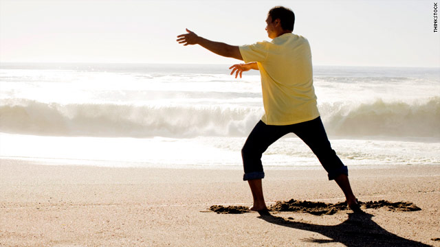 Tai chi is a slow, meditative martial art.