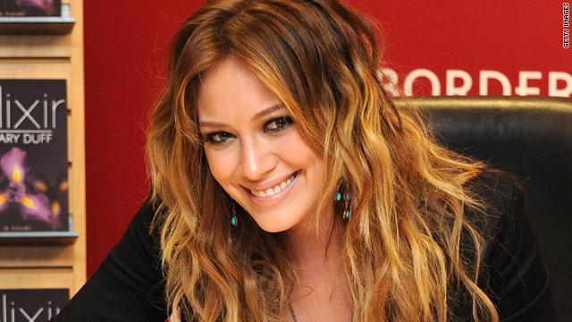 Hilary Duff promotes her first novel