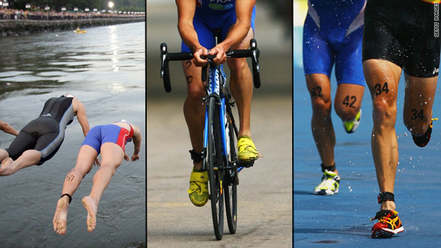 Triathalons have increased in popularity in recent years and included swimming, biking and running.