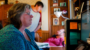Austin Mobley often has to remind his mom, Tracy, 46, how to use a computer.