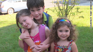 Toby Amidor's children, Schoen and his sisters Ellena (left) and Micah.