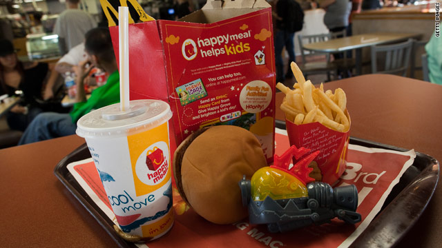 A classic McDonalds Happy Meal has about 650 calories -- more than half the amount a preschooler should eat in one day.