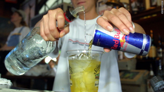 A new study suggests that combining caffeine and alcohol can pose a risk to young people.