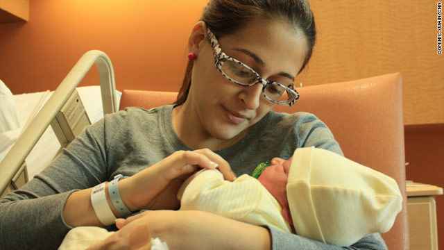 In a public bank, the umbilical cord blood of Leidy Sanchez and Carlos Reyes' son, Christopher, is available to help anyone.