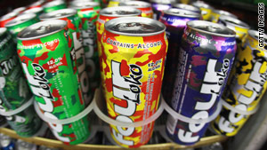 The FDA says addition of caffeine to alcoholic beverages is unsafe.