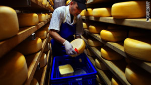 Gouda cheese, similar to the type used in the experiment that proved it helped boost the immune system of the elderly.