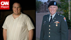 iReporter Seth Leigh before and after his weight loss.