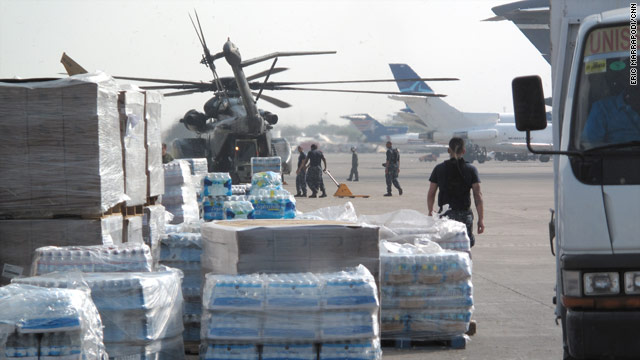 Agencies are asking for moslty monetary donations for relief efforts in Haiti, for many are still assessing the country's needs.