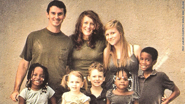 Missionaries Troy and Tara Livesay and their large family live in a less devastated part of Port-au-Prince, Haiti.