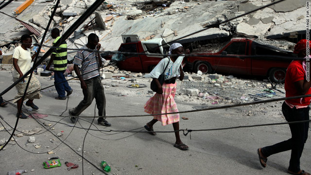 The earthquake in Haiti has left tens of thousands wandering the streets, while loved ones wait to hear from them.