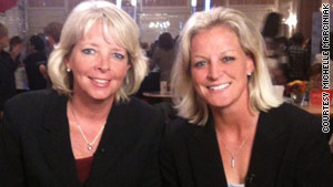 Susan Walvius, left, and Michelle Marciniak went from coaching to launching a bedding business called SHEEX.