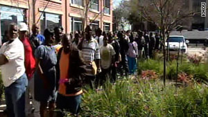 Ex-cons line up around the block at a job fair in Houston