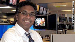 Saeed Ahmed has always worked nights, whether as a newspaper reporter or a CNN editor.