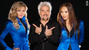 "Celebrity chef Guy Fieri poses in a promotional photo for his new show ""Minute to Win It."""