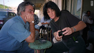 CNN's Ben Wedeman and photojournalist Margaret Moth, pictured in  Gaza in August 2001.