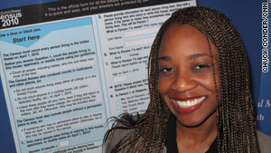 "Buashie Amatokwu had trouble finding work after earning her doctorate. She says her census job is ""my calling."""