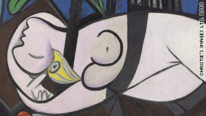 "Experts had referred Picasso's ""Nude, Green Leaves and  Bust"" as ""lost"" because it had never been published in  color."
