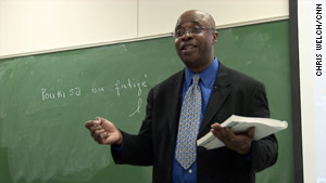Max Adrien, a French professor from Haiti, offers a free Creole class.