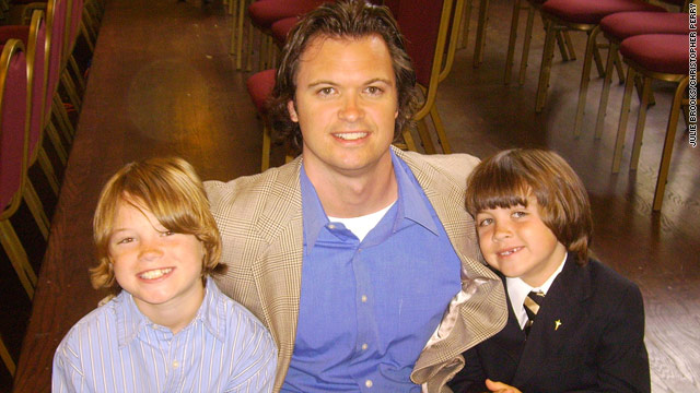 Christopher Perry with his sons Alex, left, and Caleb in a photo  from a few years ago.