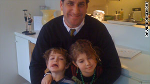 Author David Borgenicht, son Max and daughter Sophie.