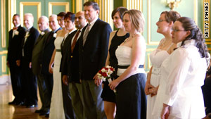 Same-sex couples are married during a group wedding in March in Washington, D.C.