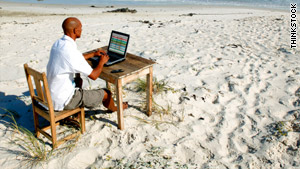 If you do take time off for a vacation, don't take your work along with you, expert says.