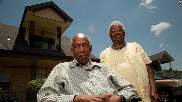 Meldon Woods, pictured with his wife Audrey, initially refused to leave his home during Hurricane Katrina.