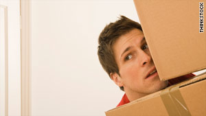 Women is worried because boyfriend is moving out.
